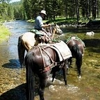 Boise National Forest equestrian camping areas and horseback riding trails.