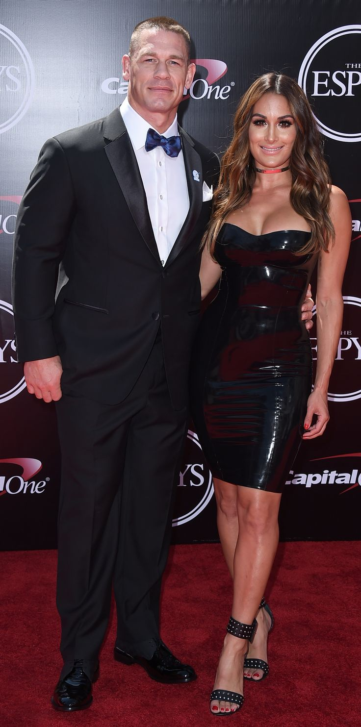See the Best Looks from the 2016 ESPY Awards Red Carpet - John Cena and Nikki Bella from InStyle.com