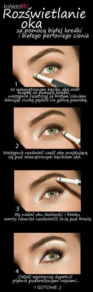 Zobacz jak maksymalnie rozświetlić oko - Biała kredka działa cuda!!!