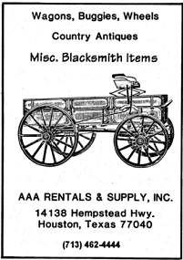 Listing for the Houston area for Blacksmith Tools and Fuels suppliers