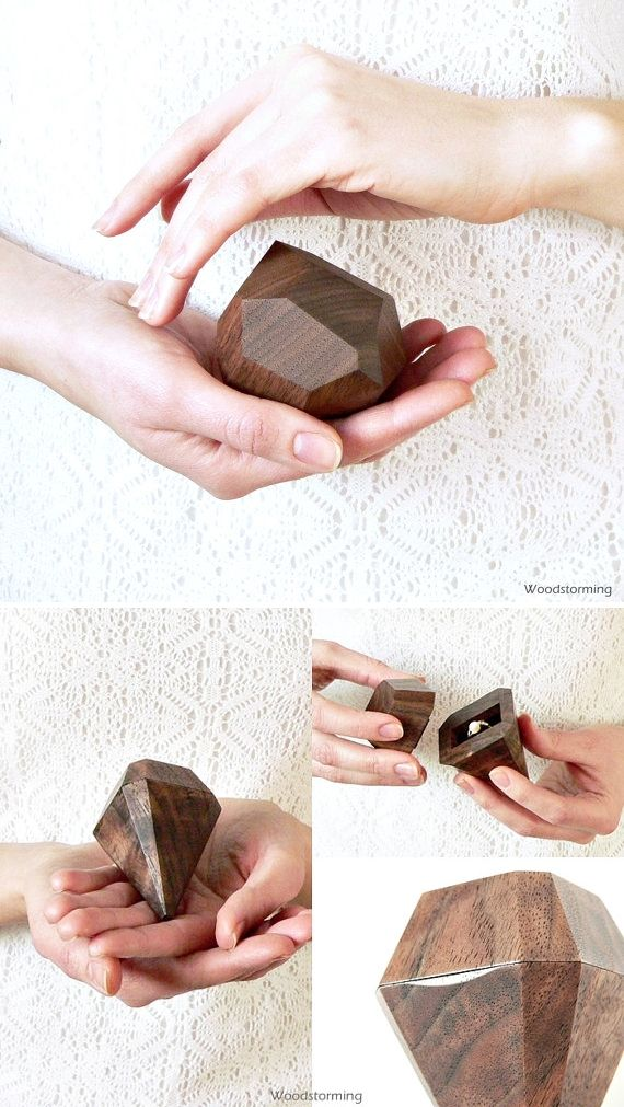 wooden wedding ring box from Etsy