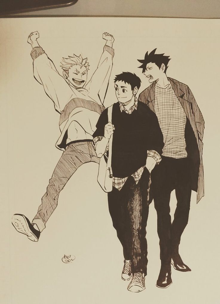 Haikyuu!! - Terushima, Daichi & Kuroo
