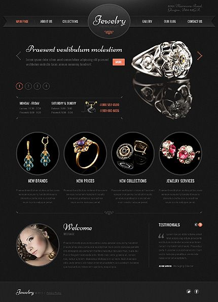 Template 41897 - Jewelry Brand WordPress Theme