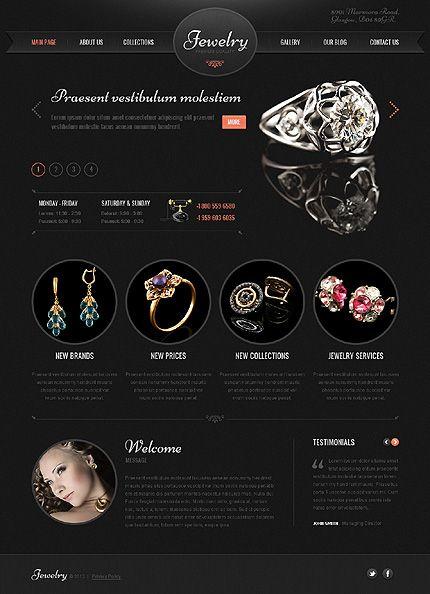 Template 41897 - Jewelry Brand WordPress Theme