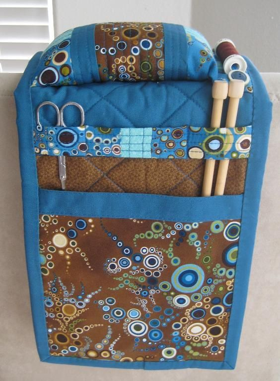 Looking for quilting project inspiration? Check out Armchair Sewing Caddy by member Applekrisp.