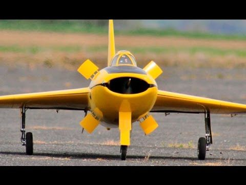 """YELLOW PERIL"" LARGE 1:4.22 SCALE RC BOULTON PAUL P.111 AT RAF TIBENHAM..."