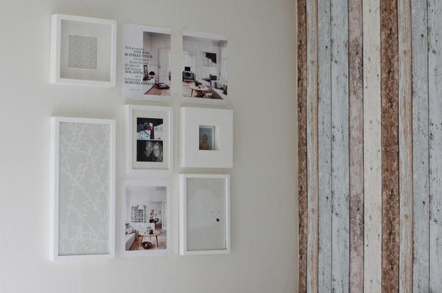 beautiful white frames wall