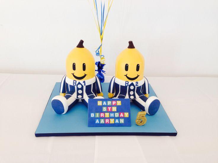 Bananas in Pyjamas birthday cake by Ab Fab