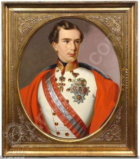 Kaiser Franz Joseph I. von Österrreich als junger Mann in Uniform