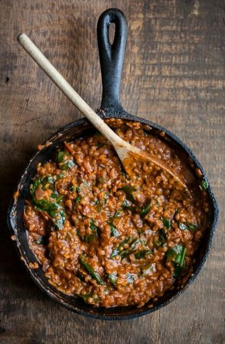 // Red Lentils & Spinach in Masala Sauce