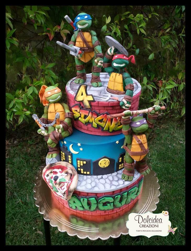 Torta tartarughe ninja - Ninja turtles cake