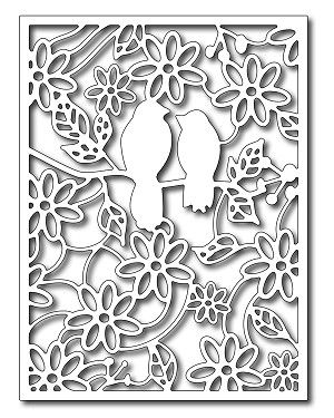 Cutting Die - Rainforest Birds Card Panel from Frantic Stamper