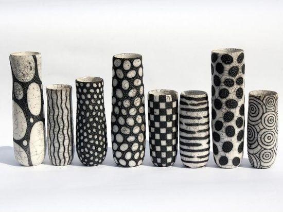 Fun black and white pots