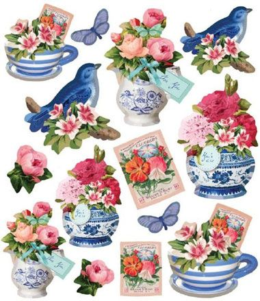 Tilda Stickers: Summer Blues