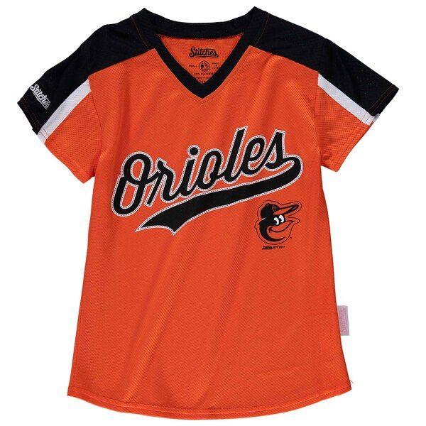 Baltimore Orioles Stitches Girls Youth V Neck Jersey T Shirt Orange Black Baltimoreorioles Baltimore Orioles Orioles Baltimore Orioles Fan
