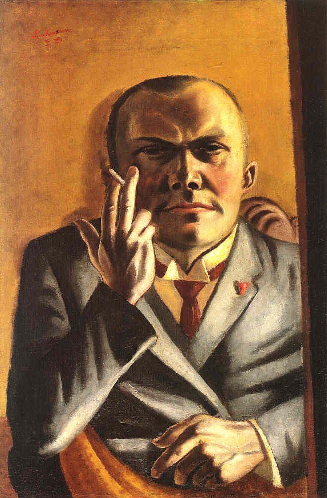 Max Beckmann self portrait.