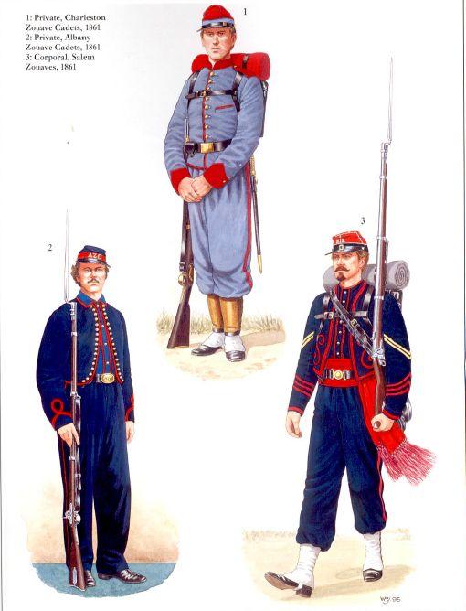 Charleston, Albany,and Salem Zouaves 1861.