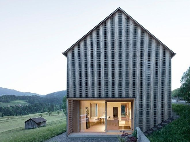 Remixing the Basic Gabled House with a Fancy Lattice Façade - Globe Trotting - Curbed National