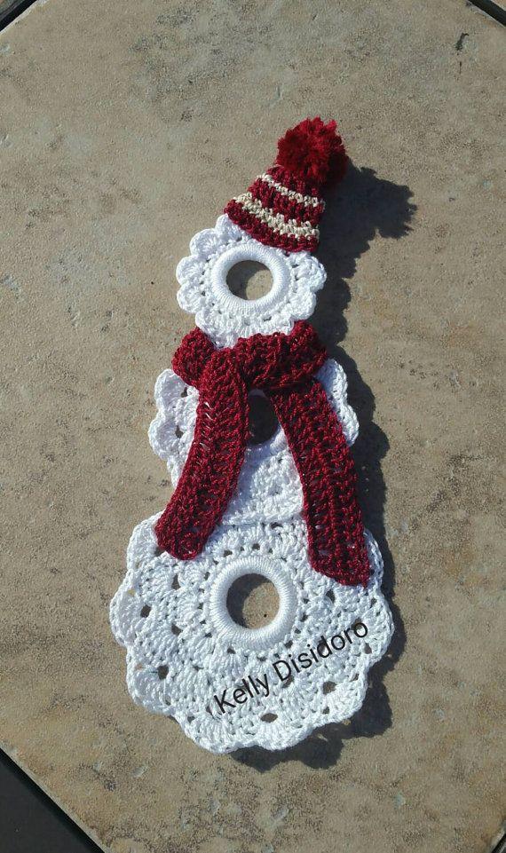 CHRISTMAS ORNAMENT- Snowman-Crochet-Choose own colors