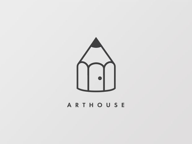 1273 best logo images on pinterest corporate identity for Minimalist house logo