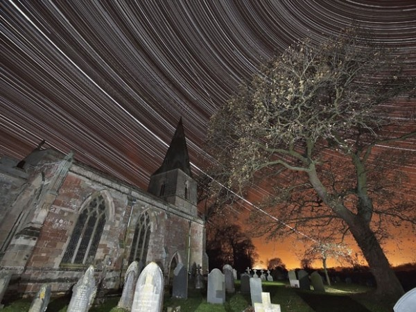 This image, taken by photographer Mark Humpage over Misterton Church, Leicestershire, captures the International Space Station, star trails, celestial North Pole, celestial equator and Jupiter in one shot.