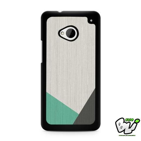 Geometric Wood Mint And Grey HTC G21,HTC ONE X,HTC ONE S,HTC M7,M8,M8 Mini,M9,M9 Plus,HTC Desire Case