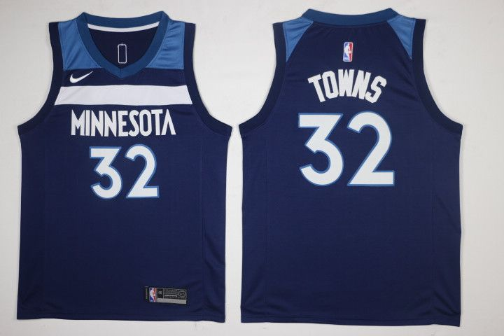 Men S Nba Minnesota Timberwolves 32 Karl Anthony Towns New Navy Blue 2017 2018 Swingman Stitched Nba Jersey F Minnesota Timberwolves Karl Anthony Towns Jersey