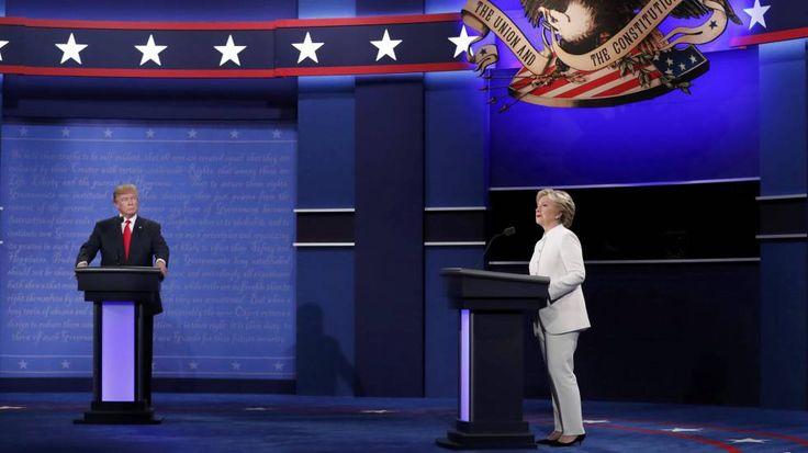 Trump se niega a admitir el resultado electoral en el debate con Clinton