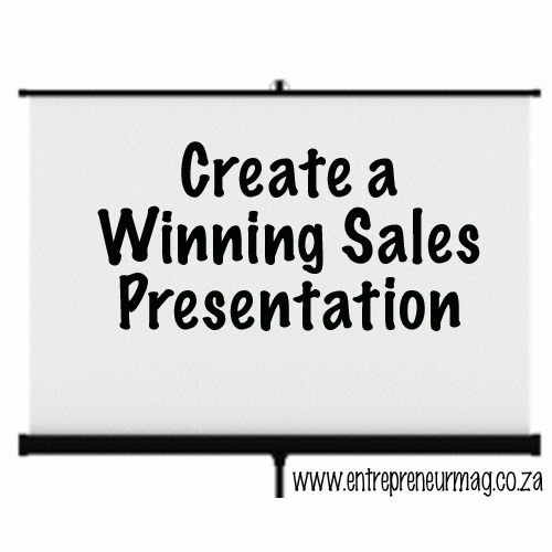 how to create a sales pitch presentation