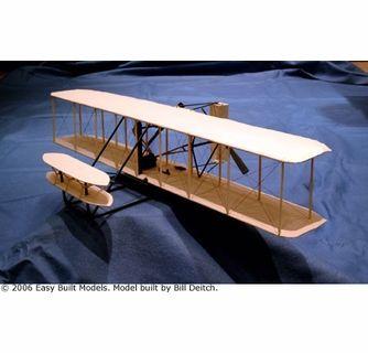 Wright Flyer 1, Easy Built Models #D10LC Balsa Wood Model Airplane Kit