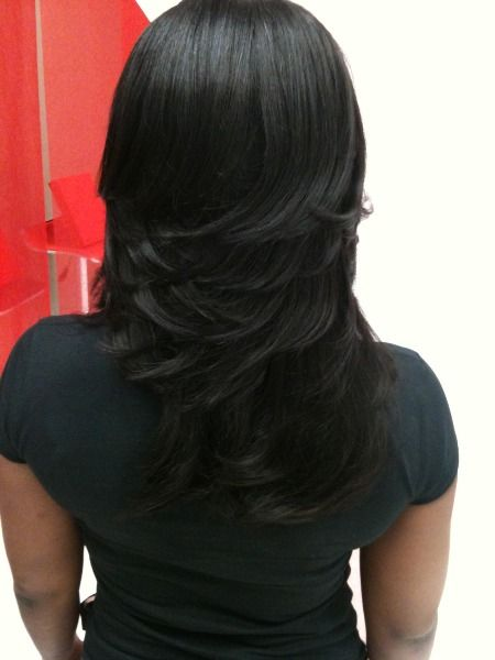 Layered Sew In Weaves Razor Cuts Layered Weaves