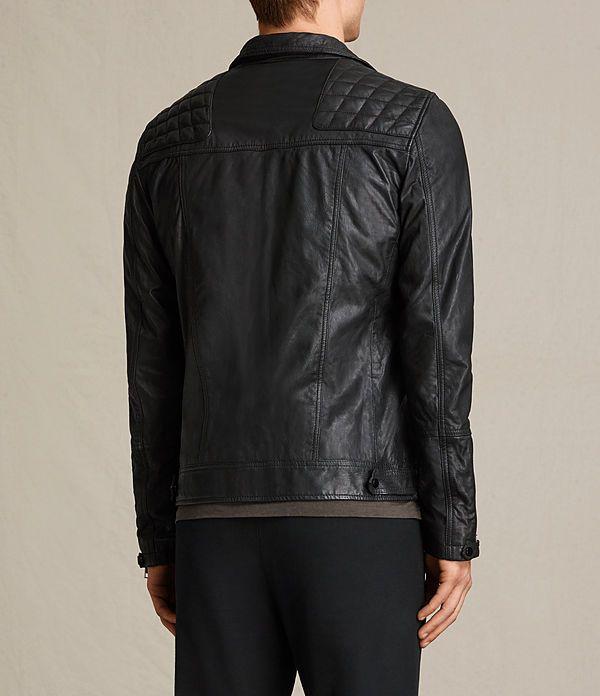 Men's Kushiro Leather Biker Jacket (Black) - product_image_alt_text_7