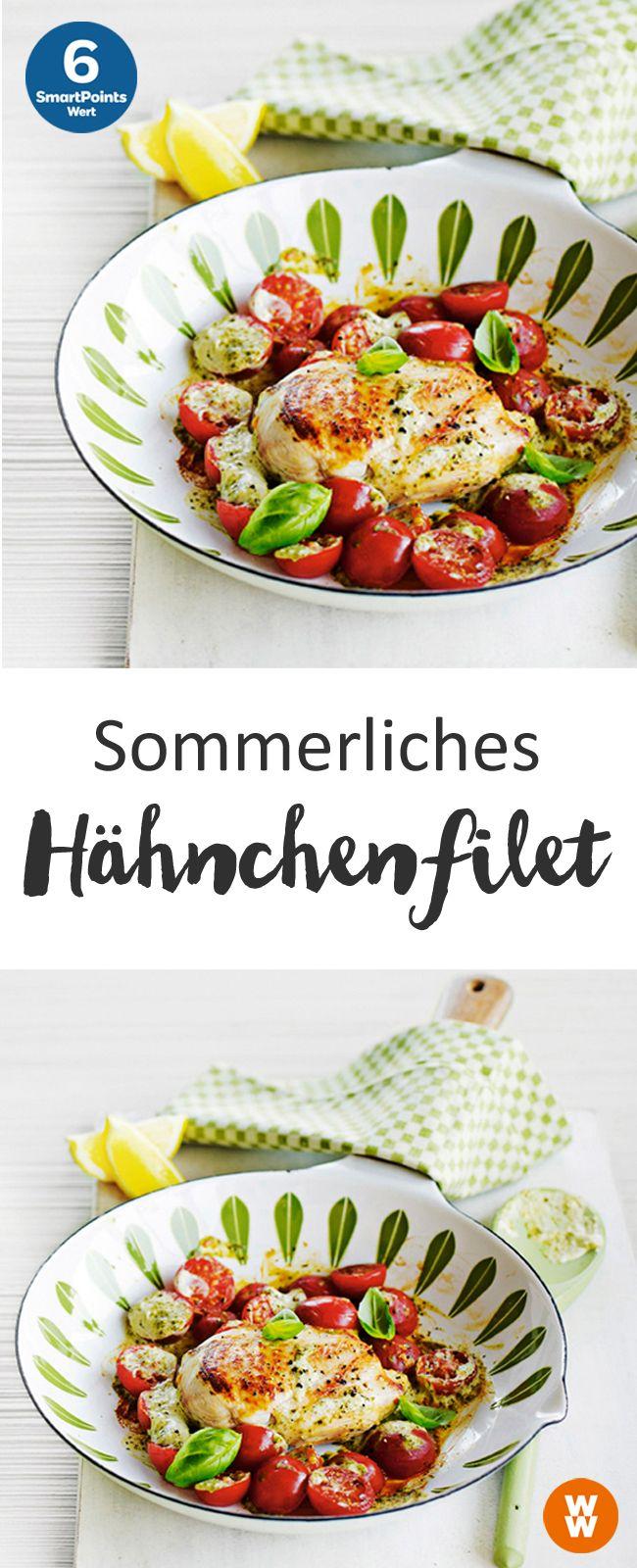Sommerliches Hähnchenfilet | 6 SmartPoints/Portion, Weight Watchers, Fleisch, fertig in 25 min.