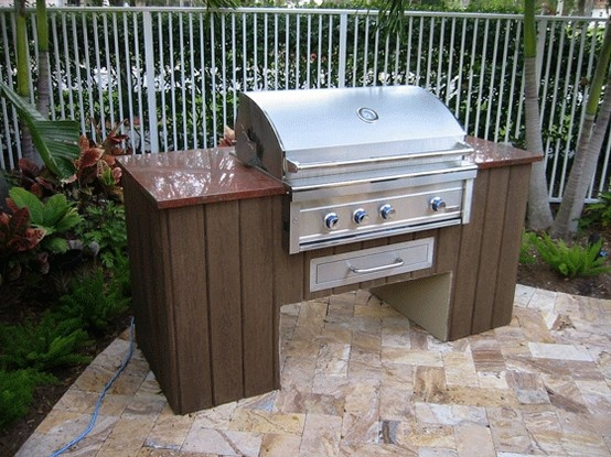 Best 25 small outdoor kitchens ideas on pinterest for Small backyard outdoor kitchen