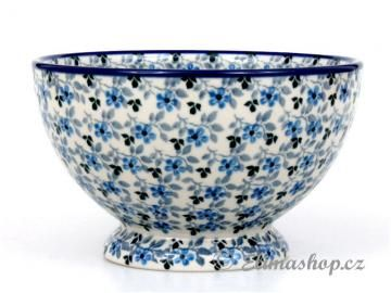 BOWL 14,5 cm . This Handmade Polish Pottery bowl is from ELIMAshop.cz . Boleslawiec . Bunzlau . ceramics . stoneware . ( miska na soklu 14,5cm - ELIMAshop.cz )
