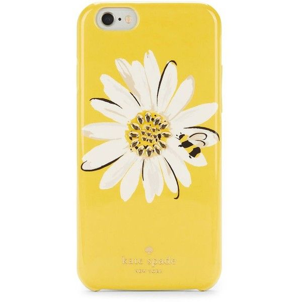Kate Spade New York Jewelled Daisy iPhone 6 and 6s Case found on Polyvore featuring accessories, tech accessories, yellow multi and kate spade