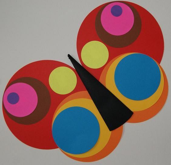 Открытку, картинки из кружков для детей