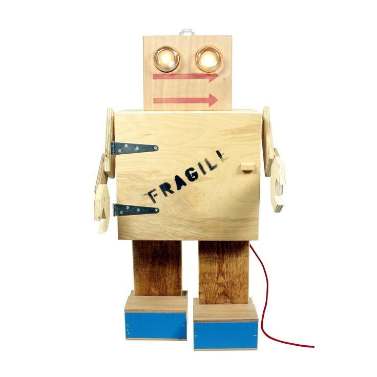 Grote robot Rijkswachter - robot, lamp en kastje van BEEmeubels | Markita.nl