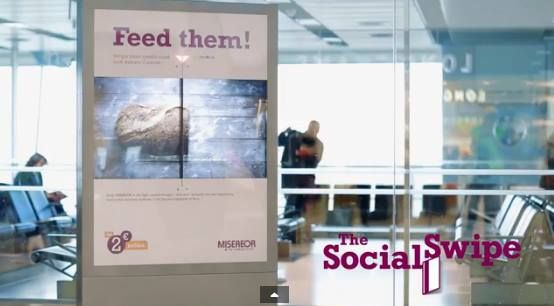 MISEREOR, a charity that helps fight poverty, created an interactive billboard that allows a user to easily swipe their credit card through the ad face quick and easily to donate cash.