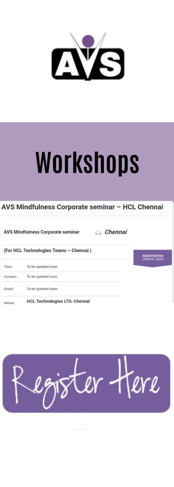 AVS Mindfulness Corporate seminar Chennai (For HCL Technologies Teams – Chennai ) #workshop