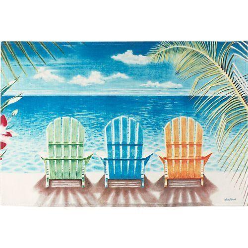 doormats | ... Beach Chair Palm Tree Tropical Doormat | Doormats With Attitude