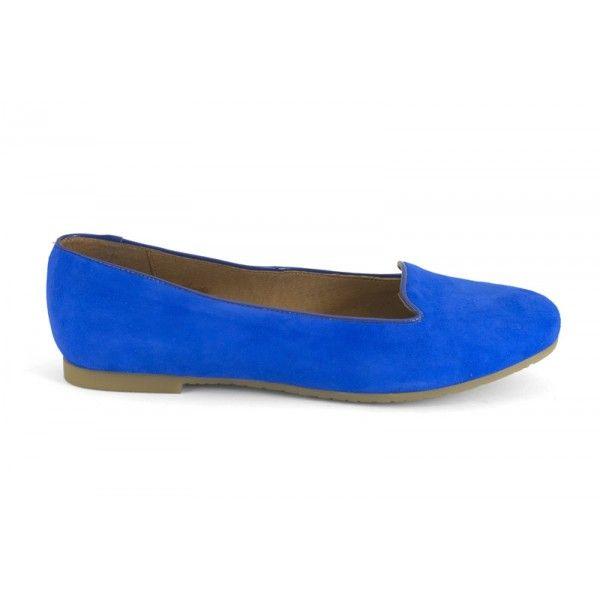 13030-800A Ante azul eléctrico - zapato casual y comodo de la marca Mikaela