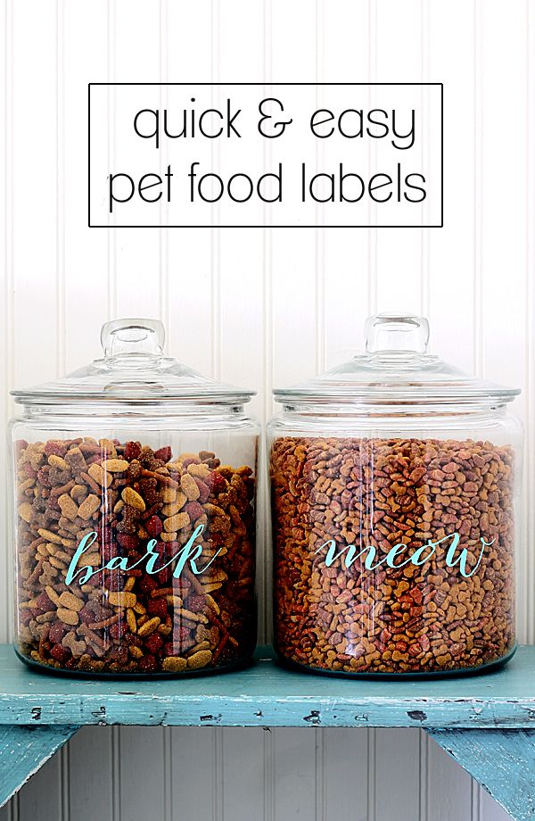 Pet Food Labels - DIY project with free printable labels