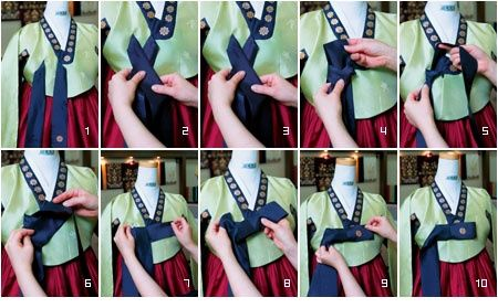 how to tie the knot for the hanbok - Google Search