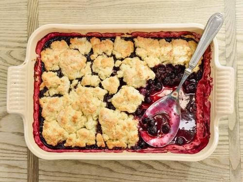 """Blueberry Cobbler (Down Home Cooking) - Ree Drummond, """"The Pioneer Woman"""", Guest on """"The Kitchen"""" on the Food Network."""