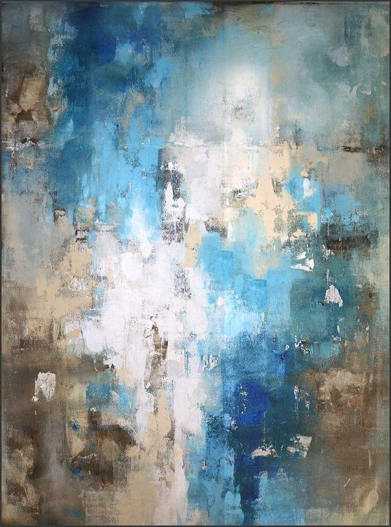 Modern Painting Original Large Abstract Art Brown Blue Teal Modern Art Abstract Abstract Abstract Painting