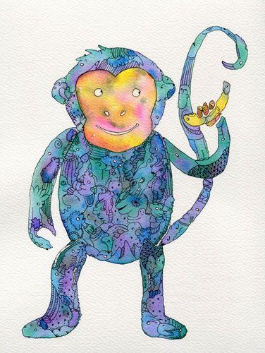 This monkey stole my banana.