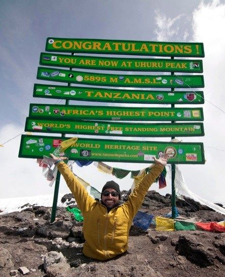 Spencer West, who lost his legs at age 5, climbed Mt. Kilimanjaro on his hands and reached the summit.  Inspirational Hero.  Well done sir, well done.