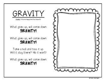 Gravity Worksheet Kindergarten