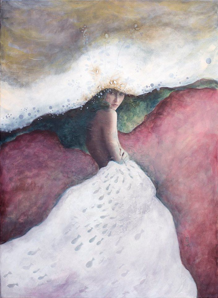 mixed media on canvas  50/70 cm 2015 Introspection Andreia Ioana Cismasiu
